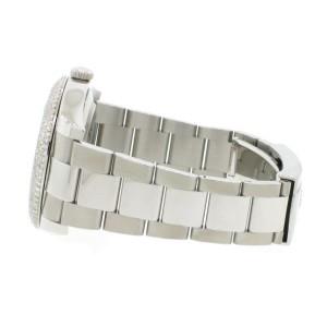 Rolex Datejust II 41MM Original Blue Dial Automatic Steel Oyster Watch 116300 w/Diamond Bezel