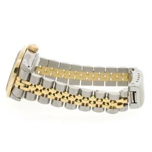 Rolex Datejust Ladies 2-Tone 18K Gold/SS 26mm Watch with Aqua Pink MOP Dial & Diamond Bezel