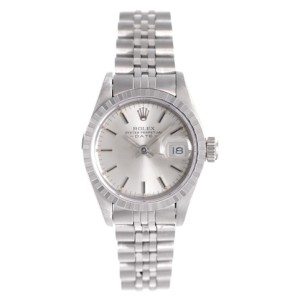 Rolex Date 69240 Stainless Steel Silver Dial 26mm Womens Watch