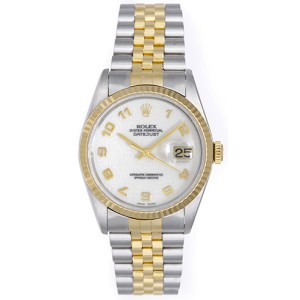 Rolex Datejust 16233 Stainless Steel / 18K Yellow Gold 36mm Mens Watch