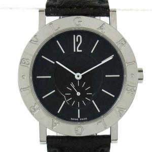 BVLGARI Stainless steel/leather Bvlgari Bvlgari Small Seconds Wrist watch RCB-38