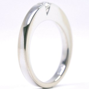 CARTIER 18k white gold/diamond tank Ring