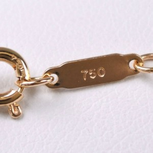 TIFFANY & Co K18 yellow gold Key motif Necklace NST-50