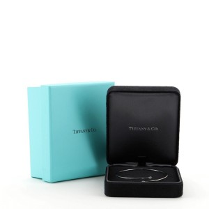 Tiffany & Co. Peretti Hoop Single-Row Bangle Bracelet Platinum and Diamonds 0.10ct.tw.