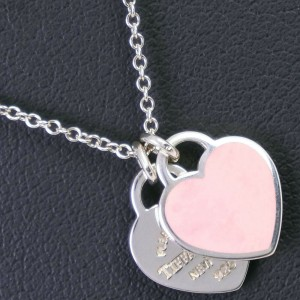 TIFFANY & Co. 925 Silver Double heart Return to Necklace
