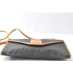 FENDI Leather PVC Clutch Shoulder Bag