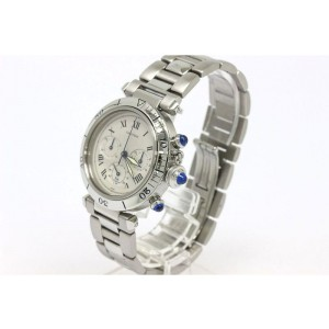 Cartier Pasha Chronograph Stainless Steel Quartz 38mm Mens Watch
