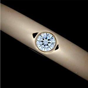 HARRY WINSTON 18K pink gold Round Diamond Ring Rcb-133