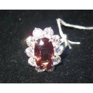 18K White Gold Alexandrite & 4.74ct Diamond Ring Size 6.5