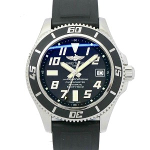 BREITLING Stainless steel/Rubber Super Ocean Watch Rcb-131