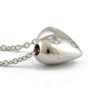 TIFFANY&Co. Platinum Diamond Dot heart Necklace