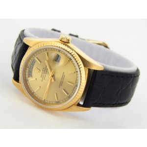 Mens Rolex 18K Yellow Gold Day-Date President Champagne 18038