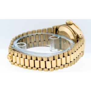 Rolex Datejust President 6917 Blue Vignette Diamond Womens 26mm Watch