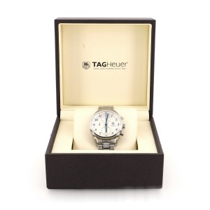 Tag Heuer Carrera Calibre 16 Heritage Chronograph Automatic Watch Stainless Steel 41