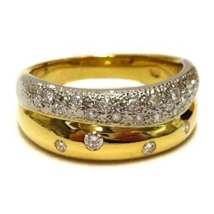 TASAKI 18k yellow gold/Platinum/diamond main Ring