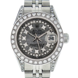 Rolex Datejust 79160 Meteorite Diamond Dial Womens 26mm Watch