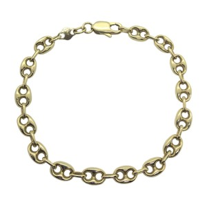 14k Yellow Gold Womens Cable Link Chain Bracelet