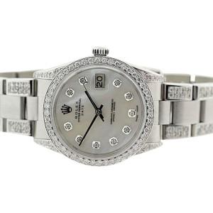 Rolex Date 34mm Full Diamond Watch