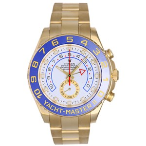 Rolex Yacht-Master II 116688 18K Yellow Gold White Dial 44mm Mens Regatta Watch