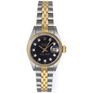 Rolex Datejust 69173 Two Tone 26mm Womens Watch