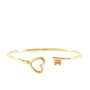 Tiffany & Co. Heart Wire Bracelet 18K Rose Gold Medium