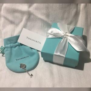 Tiffany & Co. Return To Tiffany Sterling Silver Heart Key Pendant