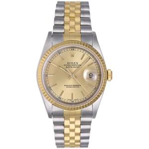 Rolex Datejust 16233 2-Tone Steel & Gold 36mm Mens Watch