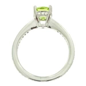 Ritani 18k White Gold Peridot .25ctw Diamond Ring Size 6.5