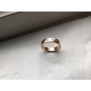 Bulgari Bulgari Bulgari 18K Rose Gold Diamond Ring Size 10.5