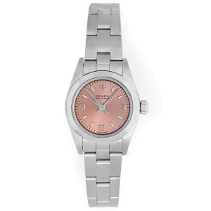 Rolex Oyster Perpetual 67180 Stainless Steel 26mm Womens Watch