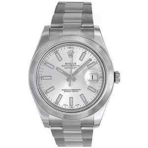 Rolex Datejust II 116300 Stainless Steel White Dial 41mm Mens Watch