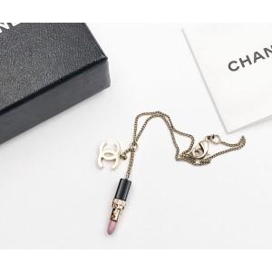 Chanel CC Gold Tone Hardware & Pink Crystal Lipstick Charm Bracelet