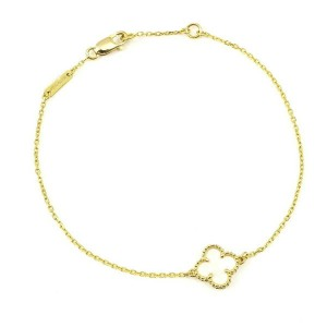 Van Cleef & Arpels 18k Yellow Gold Mother of Pearl Sweet Alhambra Bracelet CHAT-554