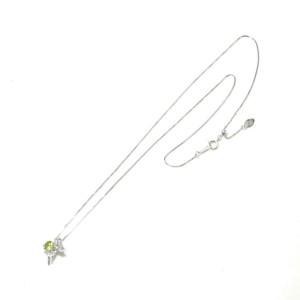 14k white gold Peridot Necklace