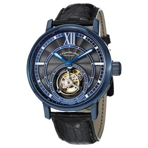 Stuhrling Imperium Tourbillon 396.33XX6 Stainless Steel & Leather 45mm Watch