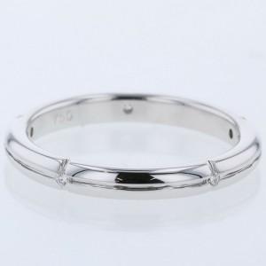 TIFFANY & Co. 18k White Gold and Diamond Streamerica Ring