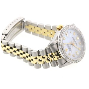 Rolex Datejust Diamond White Dial 18K Yellow Gold Stainless Steel 31mm Watch