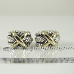David Yurman 14K Yellow Gold 925 Sterling Silver Earrings