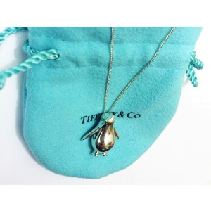 Tiffany & Co. Silver Penguin Pendant Necklace