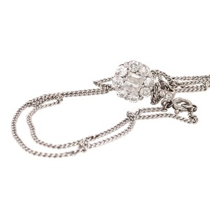 Diamond Pendant Necklace 18k White Gold Unique Design