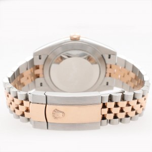 Rolex Datejust II 41mm Factory Sundust Diamond Dial/Smooth Bezel 2-Tone Rose Gold/Steel Watch 126301 Box Papers