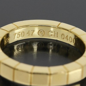 Cartier 18K Yellow Gold Lanieres Wedding Band Ring Size 4.25