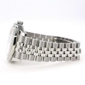 Rolex Datejust 116200 36mm 2.0ct Diamond Bezel/Aquamarine MOP Diamond Roman Dial Steel Watch