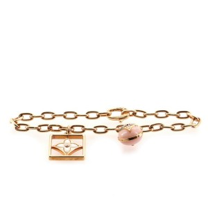 Louis Vuitton B Blossom Bracelet 18K Rose and White Gold with Pink Opal, Mother-of-Pearl and Diamonds
