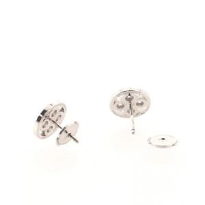Louis Vuitton Sun Blossom Stud 18K White Gold and Diamonds Earrings