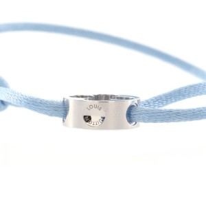 Louis Vuitton Empreinte Bracelet Silk Cord with 18K White Gold