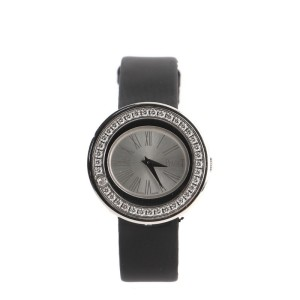 Piaget Possession Quartz Watch White Gold and Satin with Diamond Bezel 29