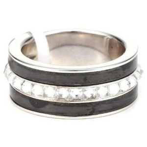 Piaget G34PX9 18K White Gold Diamond Ring Size 7.25