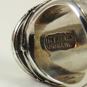 """Konstantino Sterling Silver 18K Yellow Gold Large Mabe Pearl """"Dare to Love"""" Ring"""