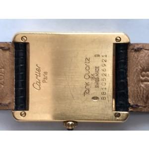 Cartier Tank 18K Gold & White Dial 31mm Womens Watch